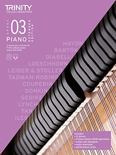 9780857369314: Trinity College London Piano Exam Pieces Plus Exercises 2021-2023: Grade 3 - Extended Edition