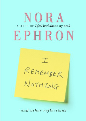 9780857520159: I Remember Nothing and other reflections
