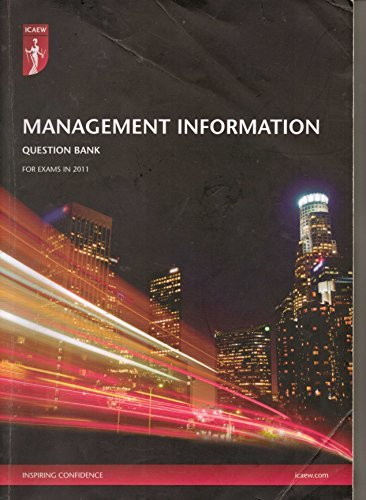 9780857600097: ICAEW Management Information Question Bank for exams in 2011
