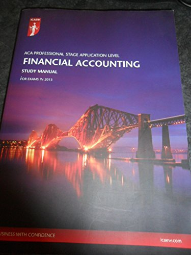 aca accounting study manual by icaew abebooks rh abebooks com Desk Manual icaew financial accounting study manual pdf