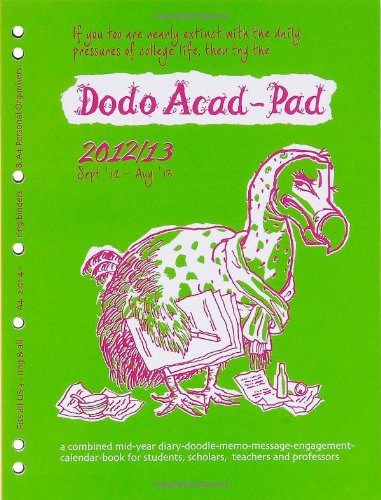 9780857700292: Dodo Acad-Pad A4 2/4 Ring/US Letter 3-ring/Filofax-compatible UNIVERSAL Diary Refill 2012/13 - Academic Mid Year Diary: A Combined Mid-year ... for Students and Scholars