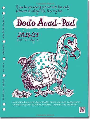 9780857700636: Dodo Acad-Pad A4 2/4 Ring/US Letter 3-Ring/Filofax-Compatible UNIVERSAL Diary Refill   2014 - 2015 Week to View Academic Mid Year Diary