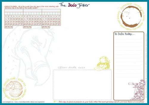 9780857700742: The Dodo Jotter Pad - A3 Desk Sized Jotter-Scribble-Doodle-to-do-List-Tear-off-Notepad