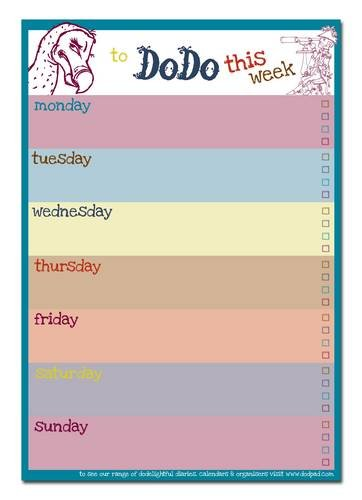 9780857700834: Dodo Weekly to Do Do Reminder List Planner Pad: 52 Pages for a Year's Worth of Memos, Notes and Vital Reminders to Plan and Do This Week (Dodo Pad)