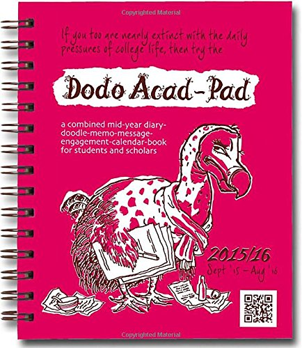 9780857700865: Dodo Mini Acad-Pad Pocket Diary 2015 - 2016 Week to View Academic Mid Year Diary: A Combined Mid-Year Diary-Doodle-Memo-Message-Engagement-Calendar-Book for Students, Teachers and Scholars (Dodo Pad)