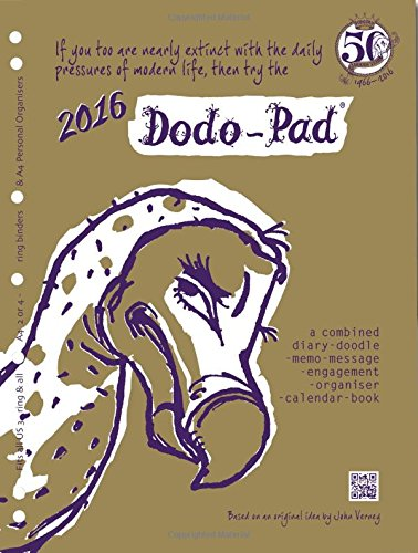 9780857700988: Dodo Pad A4 2/4 Ring/Us Letter 3-Ring/Filofax-Compatible 2016 Universal Diary Refill - Week to View Calendar Year Diary: A Combined Family Diary-Doodle-Memo-Message-Engagement-Organiser-Calendar-Book