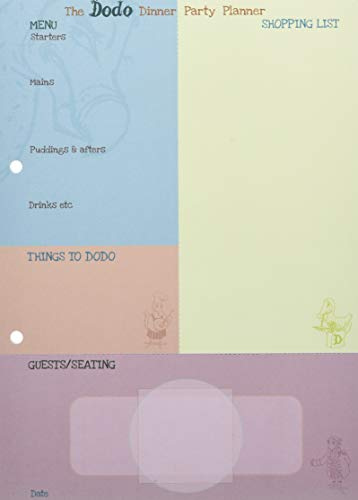 9780857701039: Dodo Dinner Party Planner Pad: Plan the Perfect Dinner Party with This Menu-Shopping-List-Seating-Plan-Checklist-Things-to-Do Pad