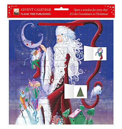 9780857750976: Santa and the Moon advent calendar (with stickers)