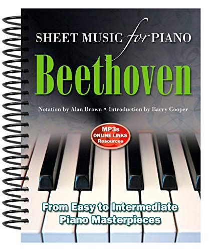 9780857755995: Ludwig Van Beethoven: Sheet Music for Piano: From Easy to Intermediate, Over 25 Masterpieces