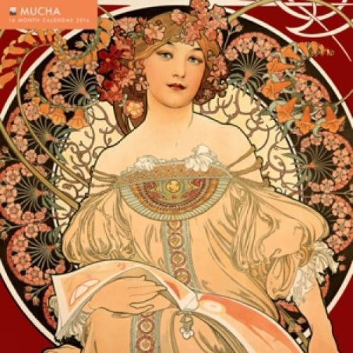 9780857757234: Mucha (with glittered cover) 2014 Square 12x12 Flame Tree