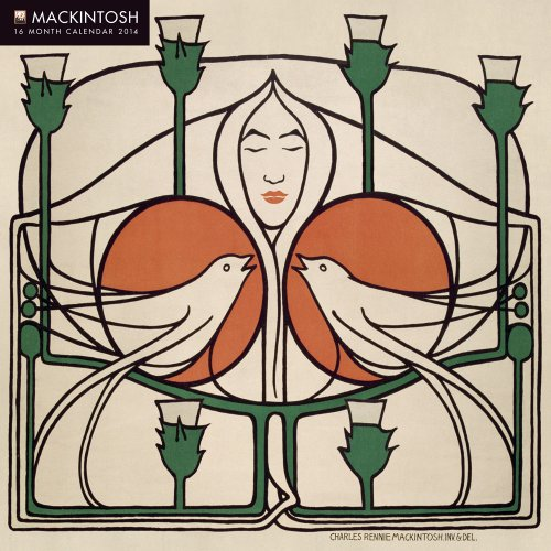 9780857757289: Charles Rennie Mackintosh wall calendar 2014