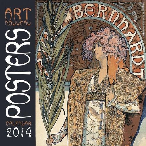 9780857757340: Art Nouveau Posters 2014 Square 12x12 Flame Tree