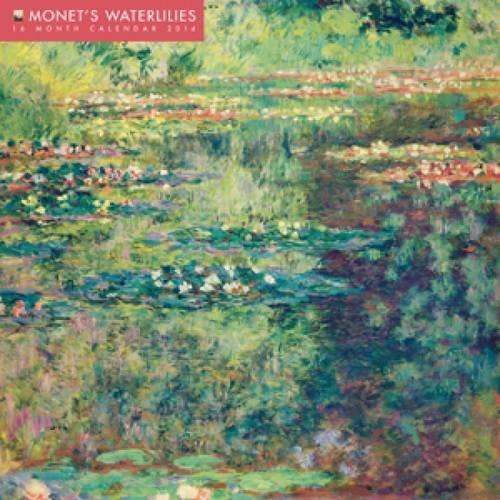 9780857757357: Monet's Waterlilies Wall Calendar 2014