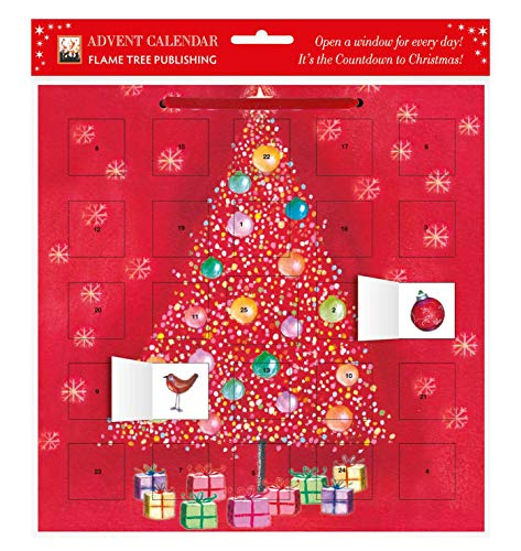 9780857757845: Bauble Tree Advent Calendar (with Stickers) (Flame Tree Calendars 2015)