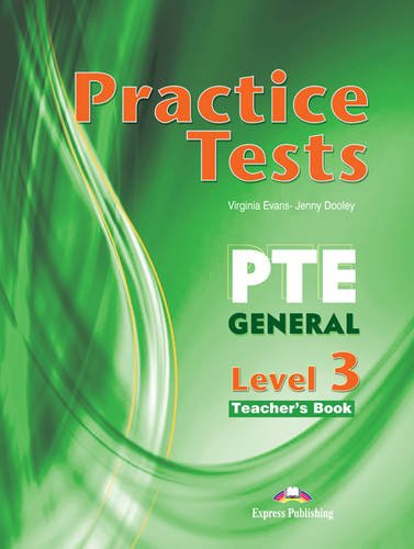9780857777188: Practice Tests for PTE General: Teacher's Book (international) Level 3