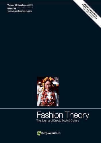 9780857854162: Fashion Theory: The Journal of Dress, Body and Culture