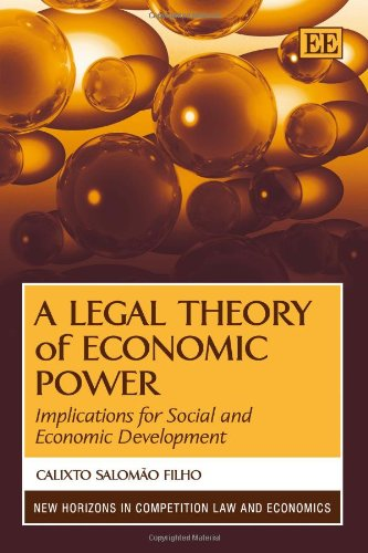9780857931863: A Legal Theory of Economic Power: Implications for Social and Economic Development (New Horizons in Competition Law and Economics series)