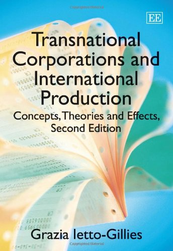 9780857932259: Transnational Corporations and International Production: Concepts, Theories and Effects