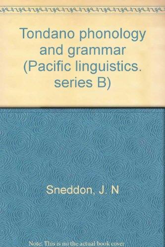9780858831254: Tondano phonology and grammar (Pacific linguistics)