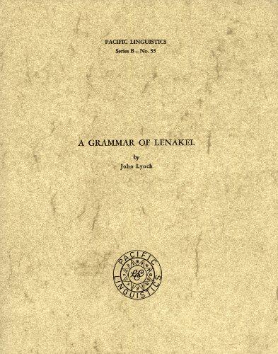 A Grammar of Lenakel: Lynch, John