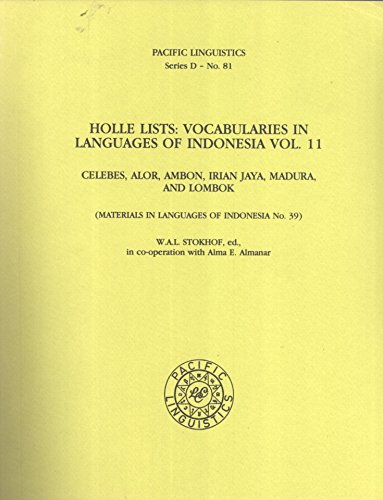 Holle Lists : Vocabularies in Languages of: W. A. L.