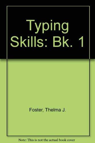 9780859501279: Typing Skills: Bk. 1