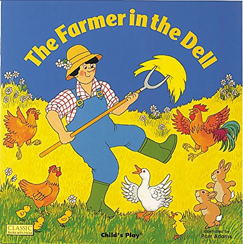 The Farmer in the Dell (Books with Holes) 9780859537964 An illustrated version of the traditional song describing life on a farm featuring die-cut pages. On board pages.