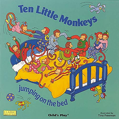 9780859538961: Ten Little Monkeys Jumping on the Bed (Classic Books with Holes)