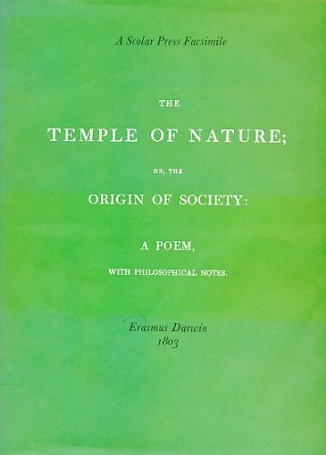 The Temple of Nature; or, the origin of society: a poem, with philosophical notes.: DARWIN, Erasmus...