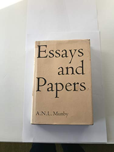 Essays and papers A N L Munby: Nicolas Barker editor