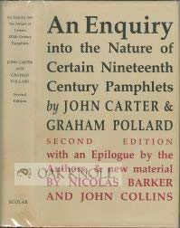 An Enquiry Into the Nature of Certain Nineteenth Century Pamphlets [2 Volumes]: [With] a Sequel t...