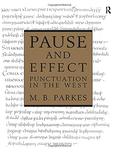 9780859677424: Pause and Effect: An Introduction to the History of Punctuation in the West