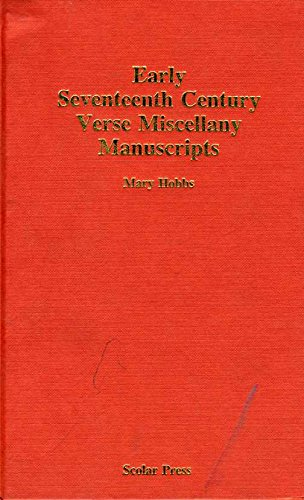 9780859678568: Early Seventeenth-Century Verse Miscellany Manuscripts