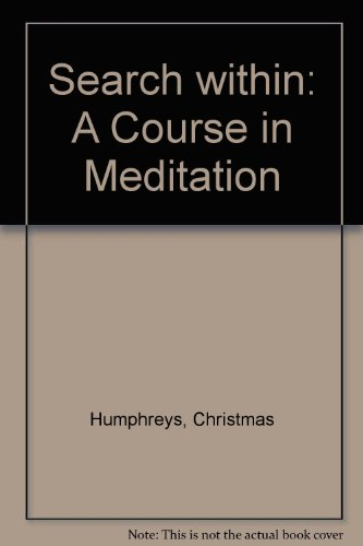 9780859690881: Search within: A Course in Meditation