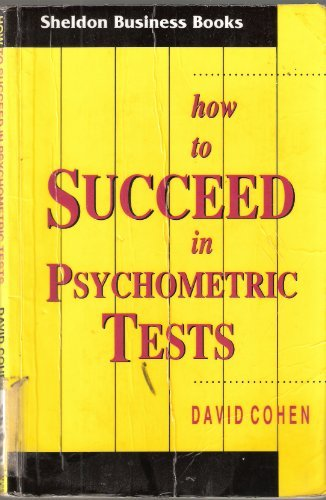 9780859696586: How to Succeed in Psychometric Tests (Sheldon Business Books)