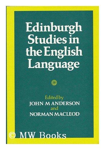 9780859761659: Edinburgh Studies in the English Language