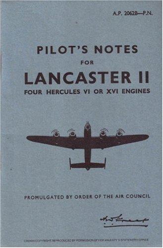 9780859790079: Avro Lancaster II -Pilot's Notes