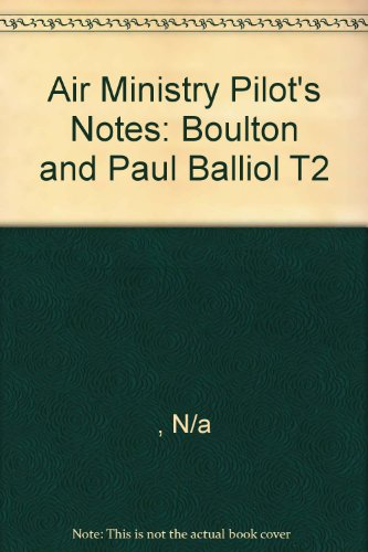 9780859790116: Air Ministry Pilot's Notes: Boulton and Paul Balliol T2