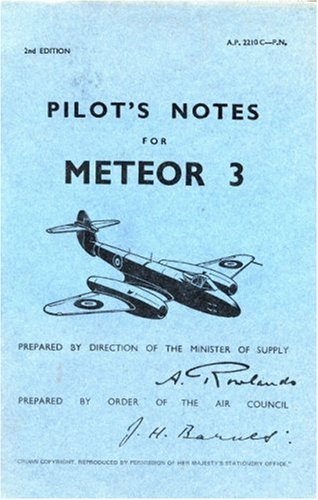9780859790291: Gloster Meteor III -Pilot's Notes