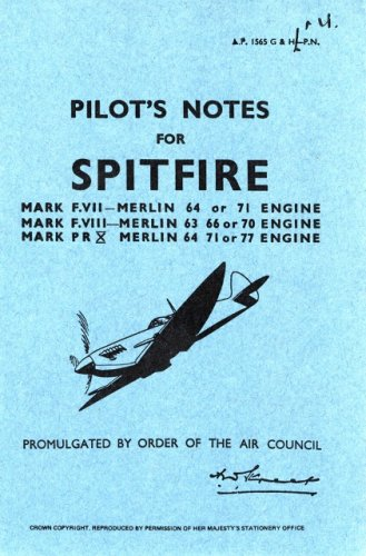 9780859790802: Supermarine Spitfire VII -Pilot's Notes