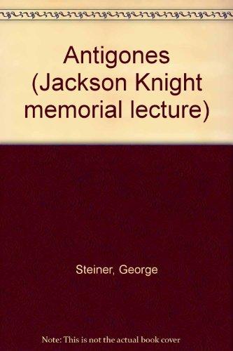 9780859891257: Antigones (Jackson Knight memorial lecture)