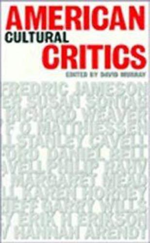 9780859894043: American Cultural Critics (CULTURAL AND SOCIAL STUDIES)