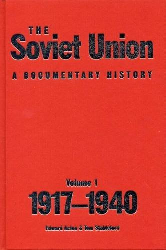 9780859897150: Soviet Union: A Documentary History Volume 1: 1917-1940: 1917-1940 v. 1 (Exeter Studies in History)