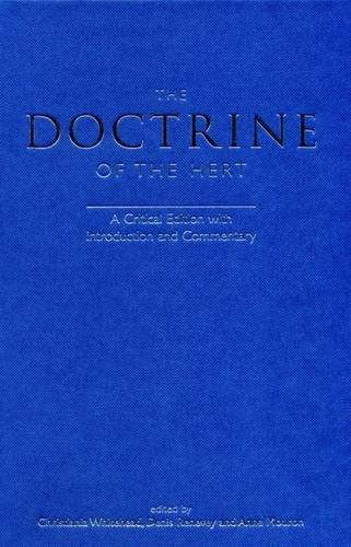 9780859897778: The Doctrine of the Hert: A Critical Edition with Introduction and Commentary (Exeter Medieval Texts and Studies LUP)