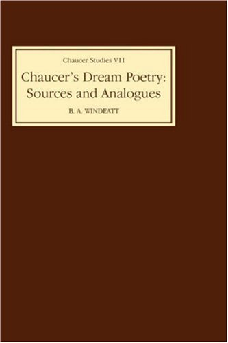 9780859910729: Chaucer's Dream Poetry: Sources and Analogues (Chaucer Studies)