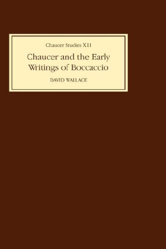 9780859911863: Chaucer and the Early Writings of Boccaccio (Chaucer Studies)