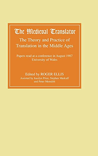 9780859912846: The Medieval Translator: The Theory and Practice of Translation in the Middle Ages (Vol 1)