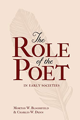 9780859913478: The Role of the Poet in Early Societies