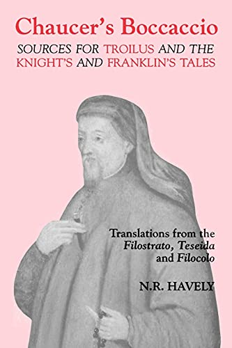9780859913492: Chaucer's Boccaccio: Sources for Troilus and The Knight's and Franklin's Tales (Chaucer Studies)