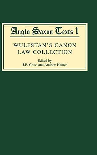 9780859915342: Wulfstan's Canon Law Collection (Anglo-Saxon Texts)